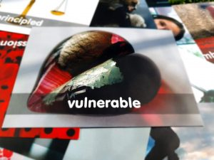 image of card saying vulnerable