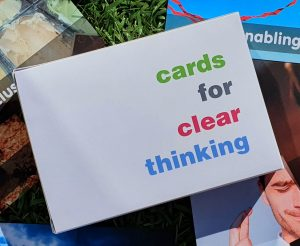 image of cards for clear thinking