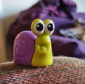 An image of a toy snail